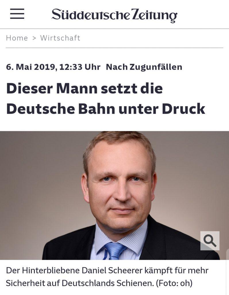 Dieser Mann setzt die Deutsche Bahn unter Druck (SZ am 06.05.2019)